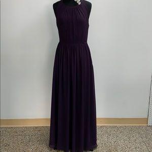 SAMPLE Bill Levkoff plum formal dress. Size 12.
